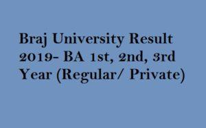 Brij University BA Result 2019 (1st, 2nd, 3rd Year)- msbuexam com