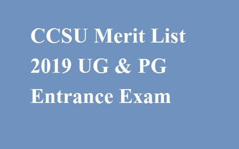 CCSU Merit List 2019