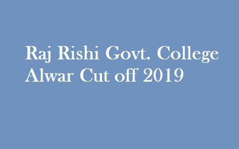 R.R Govt. College Alwar Cut off