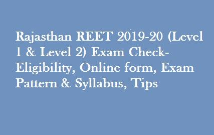 Rajasthan REET 2019-20