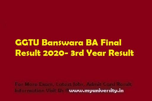 GGTU BA Final Result 2020