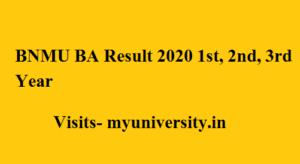 BNMU BA Result 2020 1st, 2nd, 3rd Year