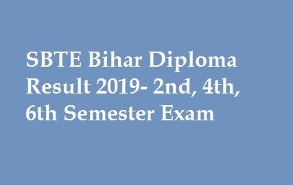 SBTE Bihar Diploma Result 2019