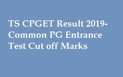TS CPGET Result 2019