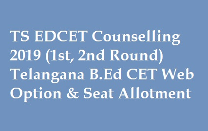 TS EDCET Counselling 2019