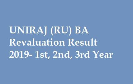 UNIRAJ BA Revaluation Result 2019