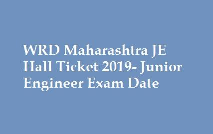 WRD Maharashtra JE Hall Ticket 2019
