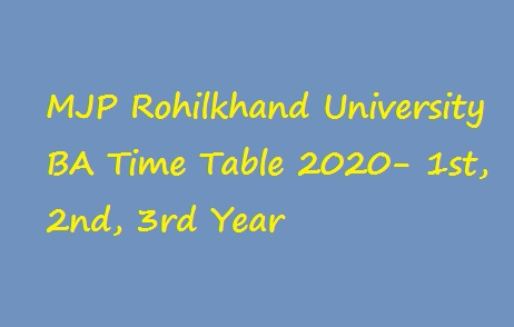 MJPRU BA Time Table 2020