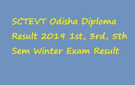 SCTEVT Odisha Diploma Result 2019