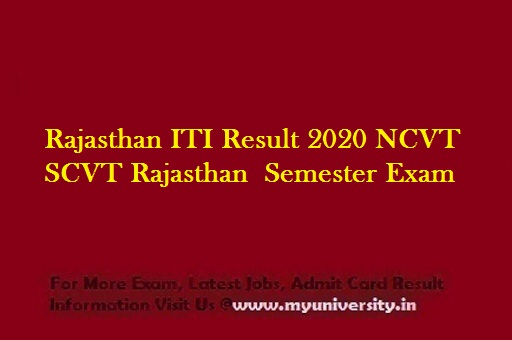 Rajasthan ITI Result 2020