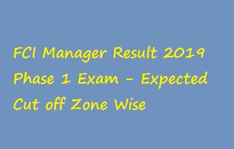 FCI Manager Result 2019