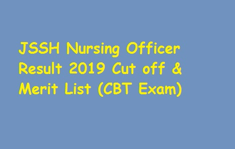 JSSH Nursing Officer Result 2019