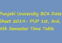 Punjabi University BCA Date Sheet 2019