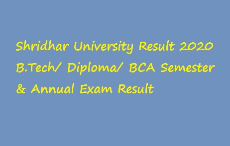 Shridhar University Result 2020
