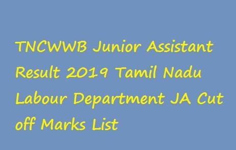 TNCWWB Junior Assistant Result 2019