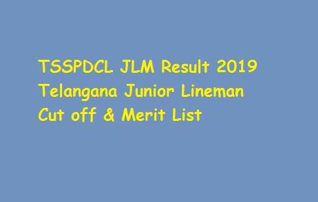 TSSPDCL JLM Result 2019