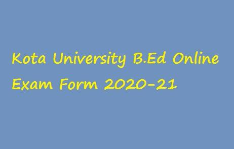 UOK BEd Online Exam Form 2020-21