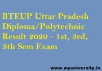 BTEUP Diploma Result 2020