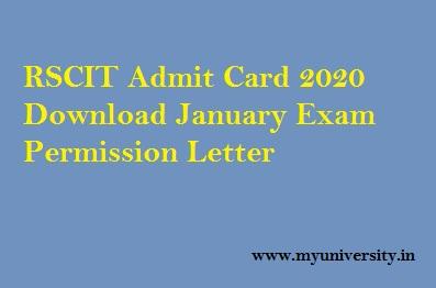 RSCIT Admit Card 19 January 2020