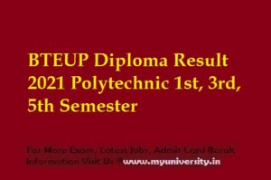 BTEUP Diploma Result 2021