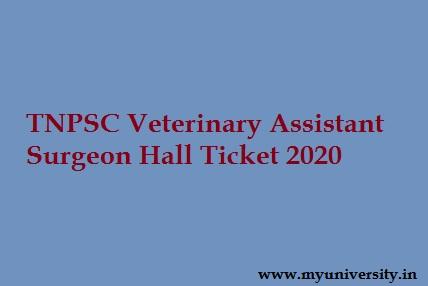 TNPSC VAS Hall Ticket 2020