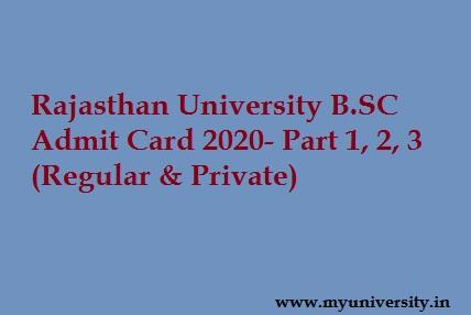 UNIRAJ BSC Admit Card 2020