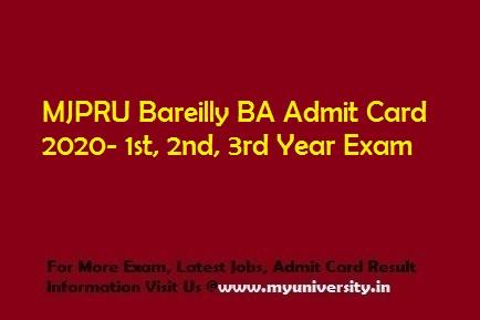 MJPRU BA Admit Card 2020