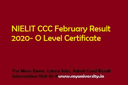 NIELIT CCC February Result 2020