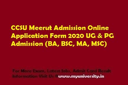 CCSU Admission Online Application Form 2020