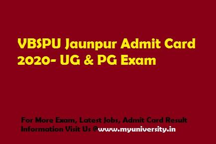 VBSPU Admit Card 2020