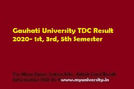 Gauhati University TDC Result 2020