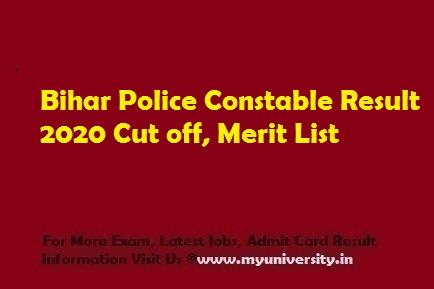 Bihar Police Constable Result 2020