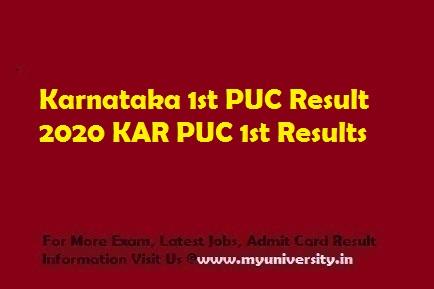 Karnataka 1st PUC Result 2020