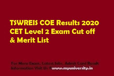 TSWREIS COE Results 2020
