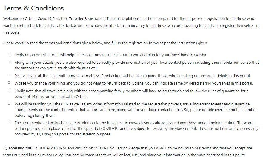 Odisha Migrant Workers Registration Form
