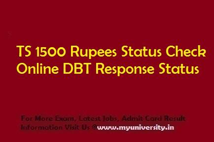 TS 1500 Rupees Status