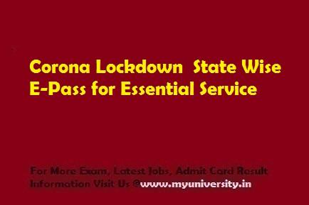 Lockdown Curfew E-Pass for Emergency Service
