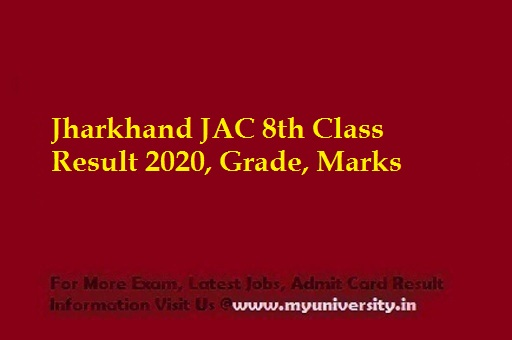 JAC 8th Class Result 2020