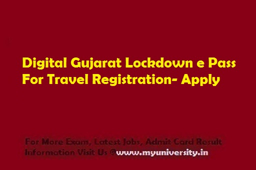 Digital Gujarat Lockdown e Pass For Travel Registration Status Online