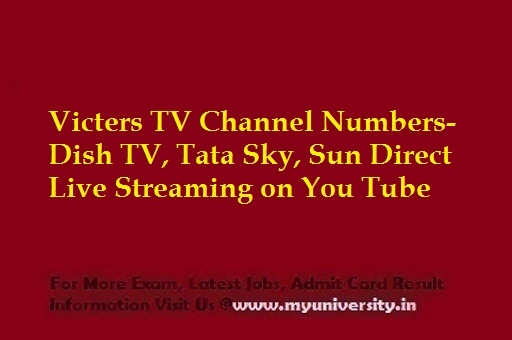 Victers TV Channel Numbers