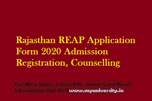Rajasthan REAP Application Form 2020