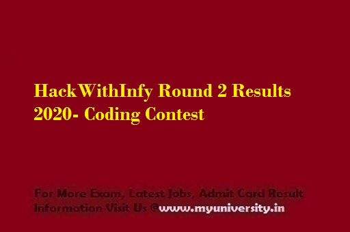 HackWithInfy Round 2 Results 2020
