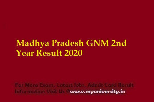 MP GNM 2nd Year Result 2020