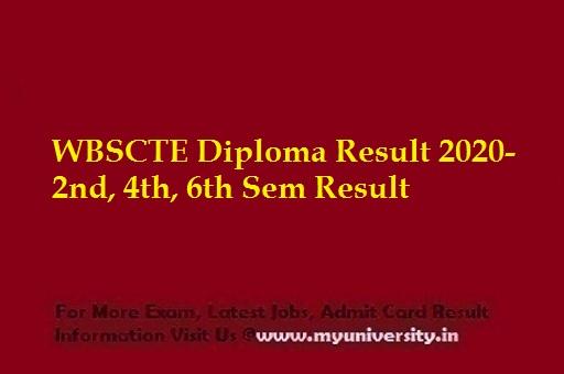 WBSCTE Diploma Result 2020