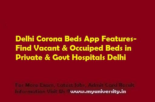 Delhi Corona Beds App