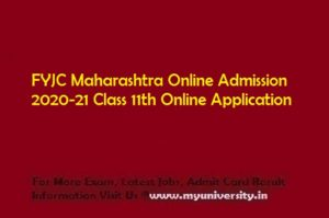 FYJC Maharashtra Online Admission 2020-21