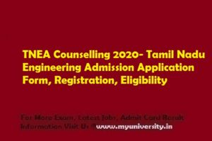 TNEA Counselling 2020 Application Form