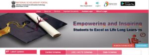 national scholarship portal nsp for 10th 12th pass students