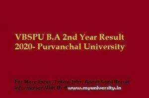 VBSPU BA 2nd Year Result 2020- Purvanchal University