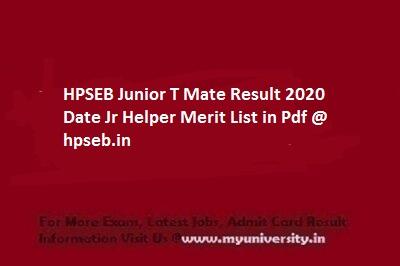 HPSEB Junior T Mate Result
